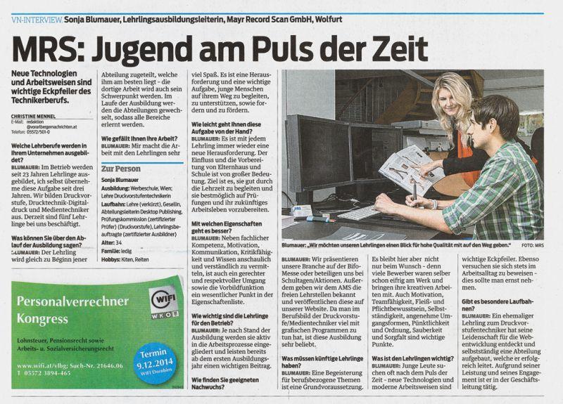 MRS-Zeitungsartikel